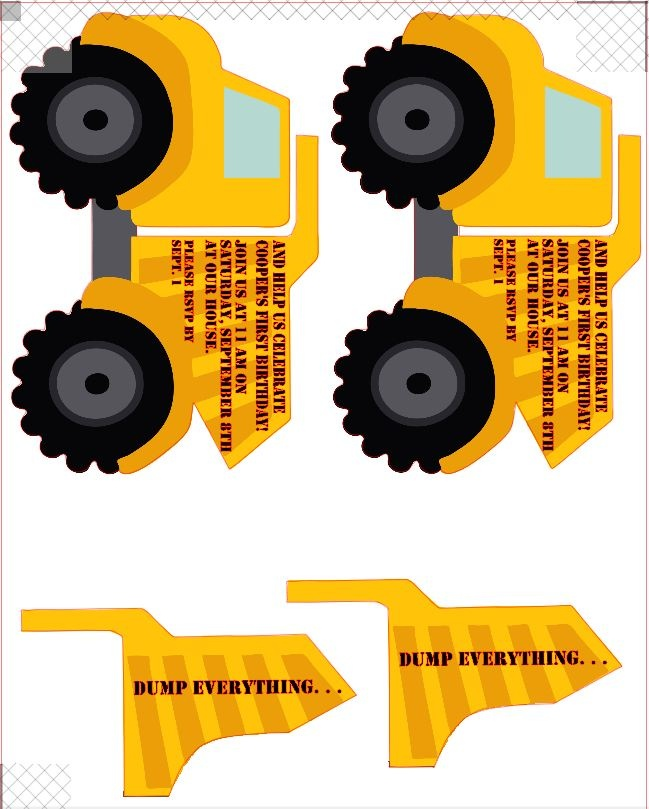 87 best images about Construction theme party ideas – Dump Truck Party Invitations