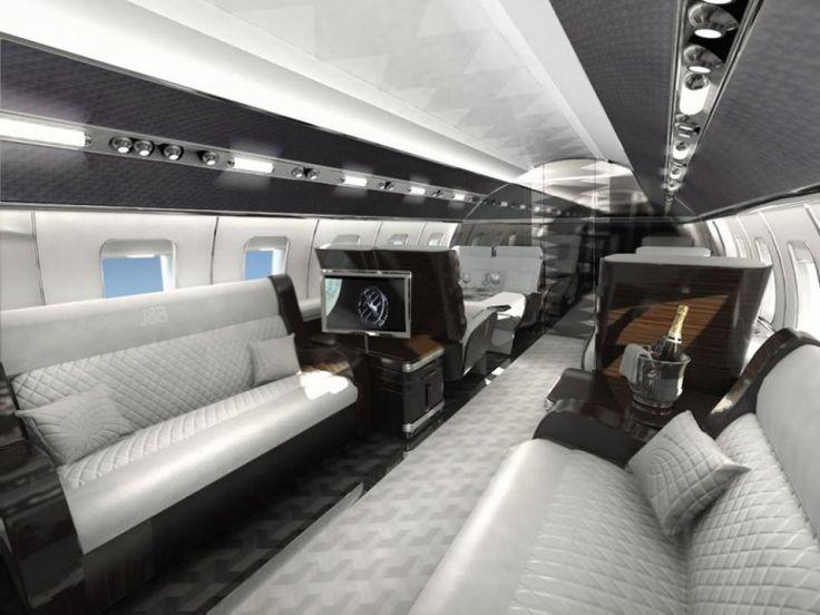 Les 25 meilleures id es concernant jets priv s sur - Jet prive de luxe interieur ...