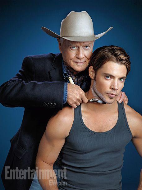"'Dallas' - Larry Hagman ""JR Ewing"" & Josh Henderson ""John Ross"""