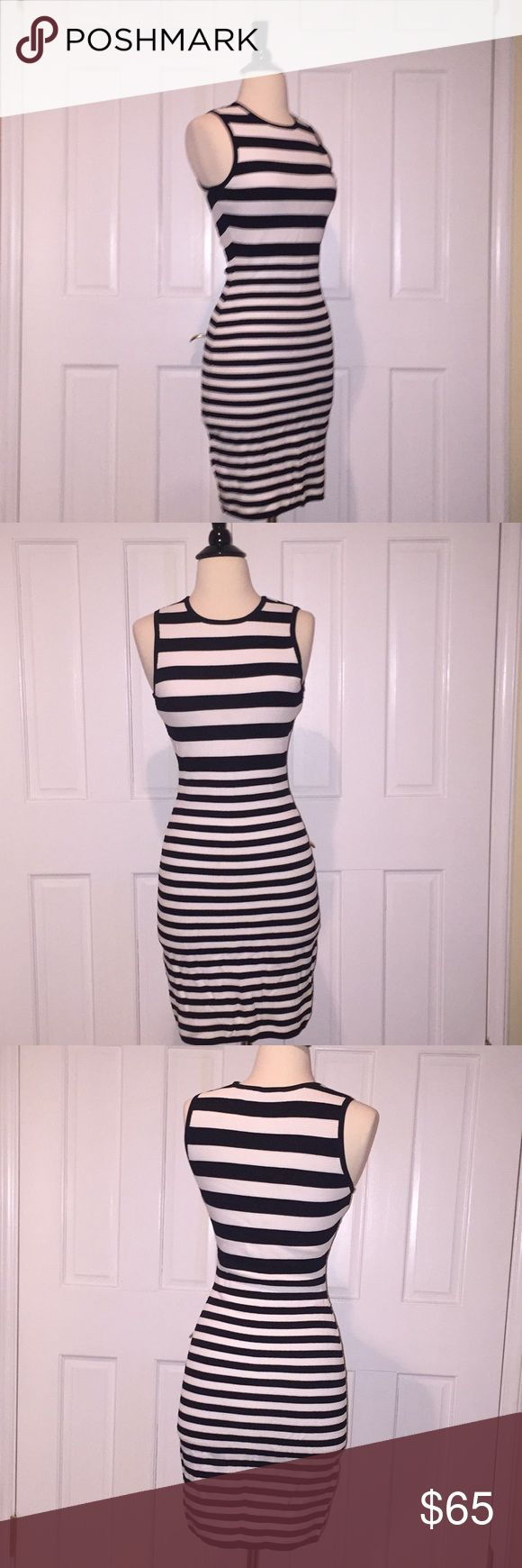 Ali & Jay Los Angeles Striped Bodycon Dress Bought from Nordstrom. Gorgeous dress. Stretch material for the best fit. Size small ali & jay Dresses Mini