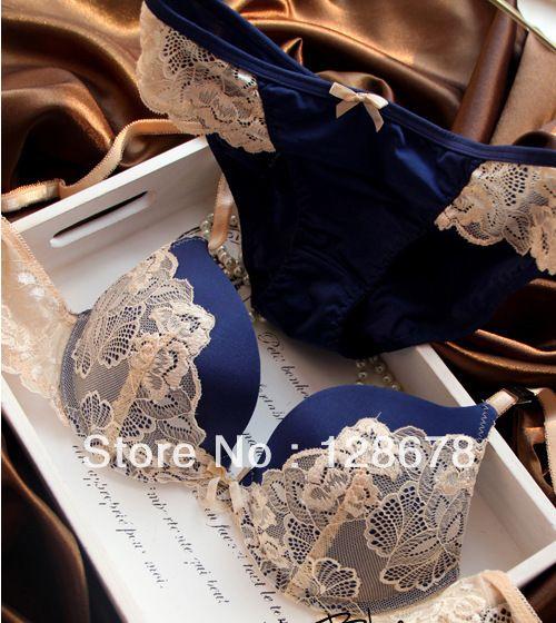 new 2013 VS Bra and Panty Set lace lingerie push up bra fashion style wholesale brassiere,sexy bra set  hot blue pink purple