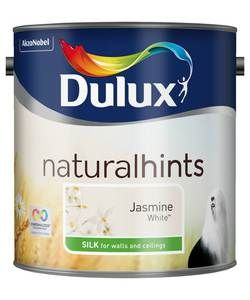 Dulux Silk Paint 2.5L - Jasmine White.: Dulux Silk is a smooth and creamy emulsion paint for use on walls and ceilings which is… #ShoppingUK