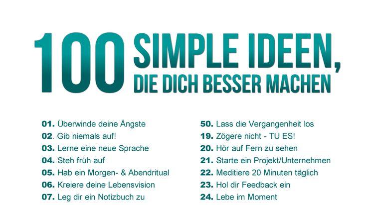 100 simple Ideen, die dich besser machen