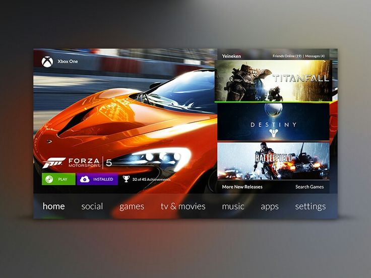 Xbox One - by Jordan Flaig | #ui #xbox