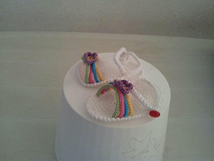 sandaletti in cotone per neonati