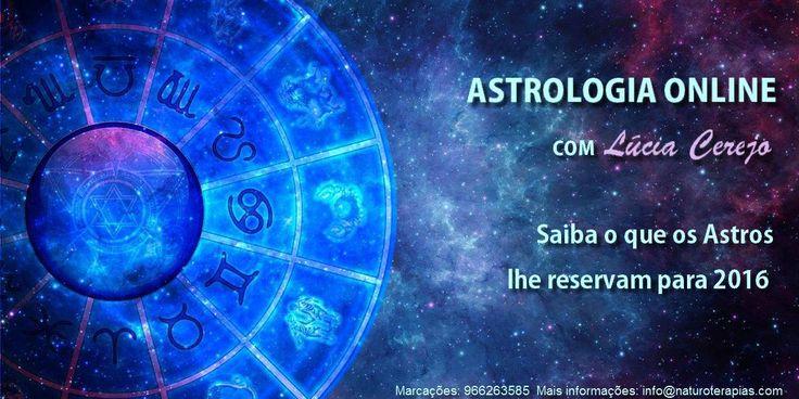 Saiba o que os astros lhe reservam para 2016. Consulta de Astrologia online com Lúcia Cerejo. Para efetuar uma marcação: info@naturoterapias.com ou ligue para 966263585 Para mais informações: www.naturoterapias.com
