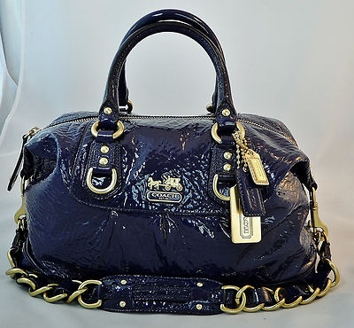 New rare coach madison patent leather sabrina satchel for Pemberley designer consignments monroe ct