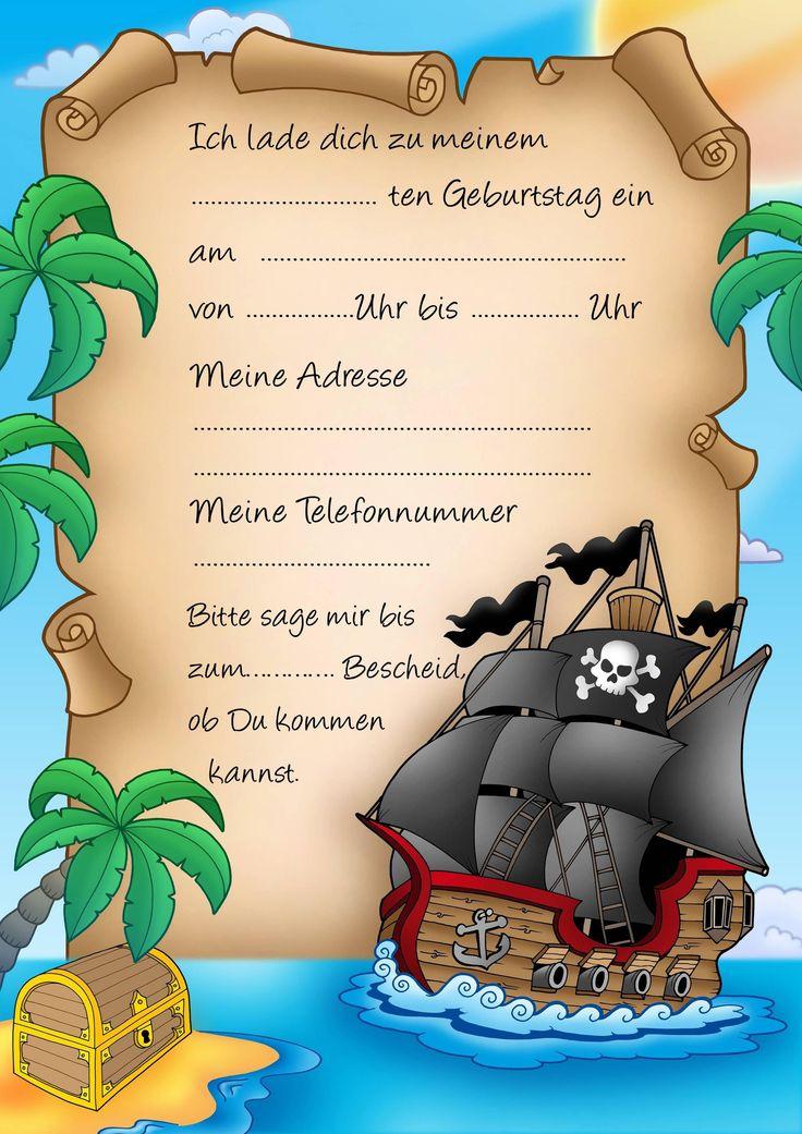 die besten 25+ piraten einladungen ideen auf pinterest | piraten, Kreative einladungen