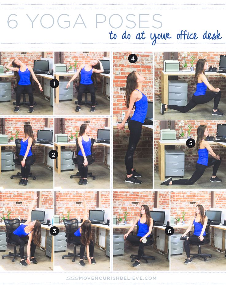 6 Yoga Poses to do at your desk