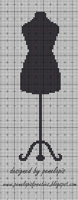 dress form cross stitch pattern