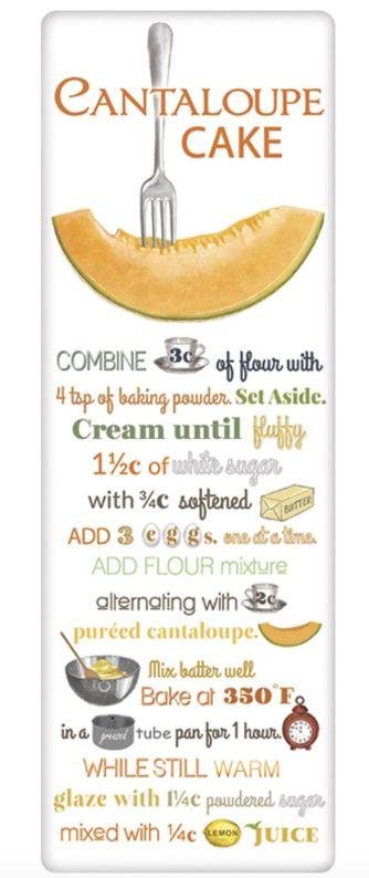 Mary Lake-Thompson Cantaloupe Cake Recipe Towel