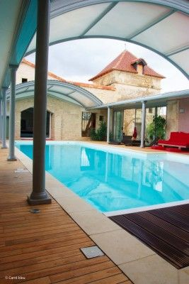 Covered pool. nice!!! Bebe'!!! Nice arched pool cover!!!