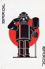 "VERY RARE VINTAGE ""The Iron Fireman"" JOKER Playing Card #404"