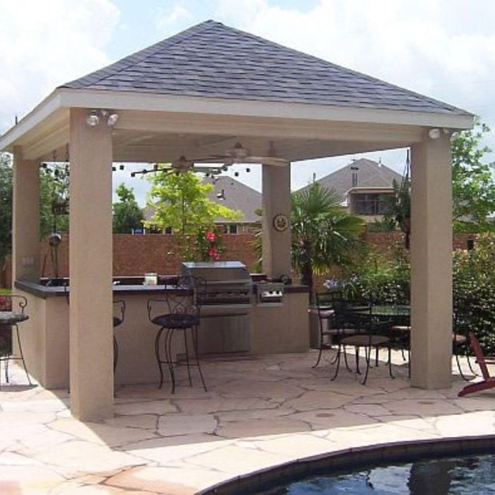 Outdoor Kitchen With Roof: 20 Best Plans For Covered Patio Images On Pinterest