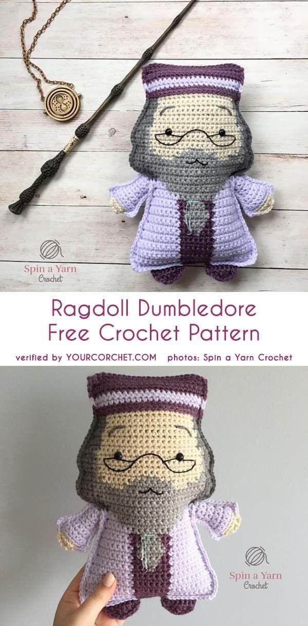Ragdoll Dumbldore Free Crochet Pattern | Harry Potter | Pinterest ...