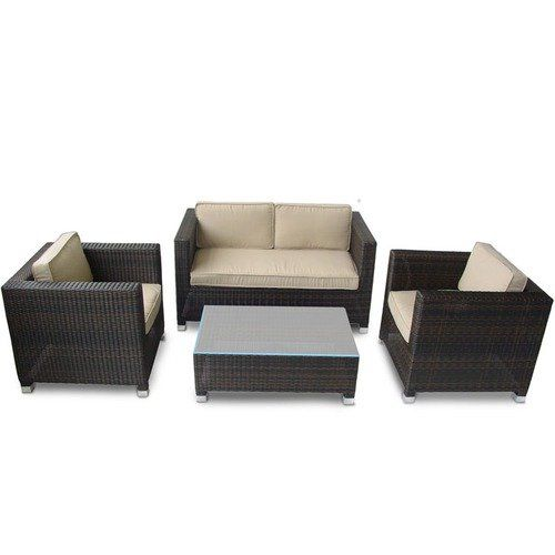 I like this look but with wood stained dark and cushions for Looking for patio furniture