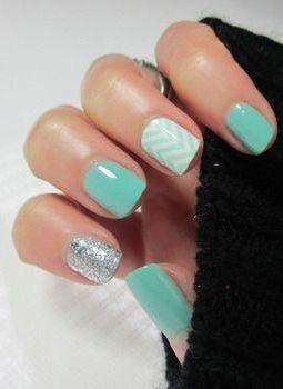 Cute feb nude nails