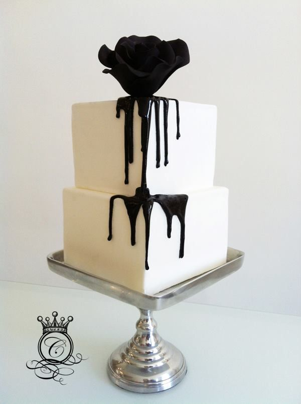 Check out this new and funky trend in the wedding world! These color-dripped wedding cakes will rule the reception!