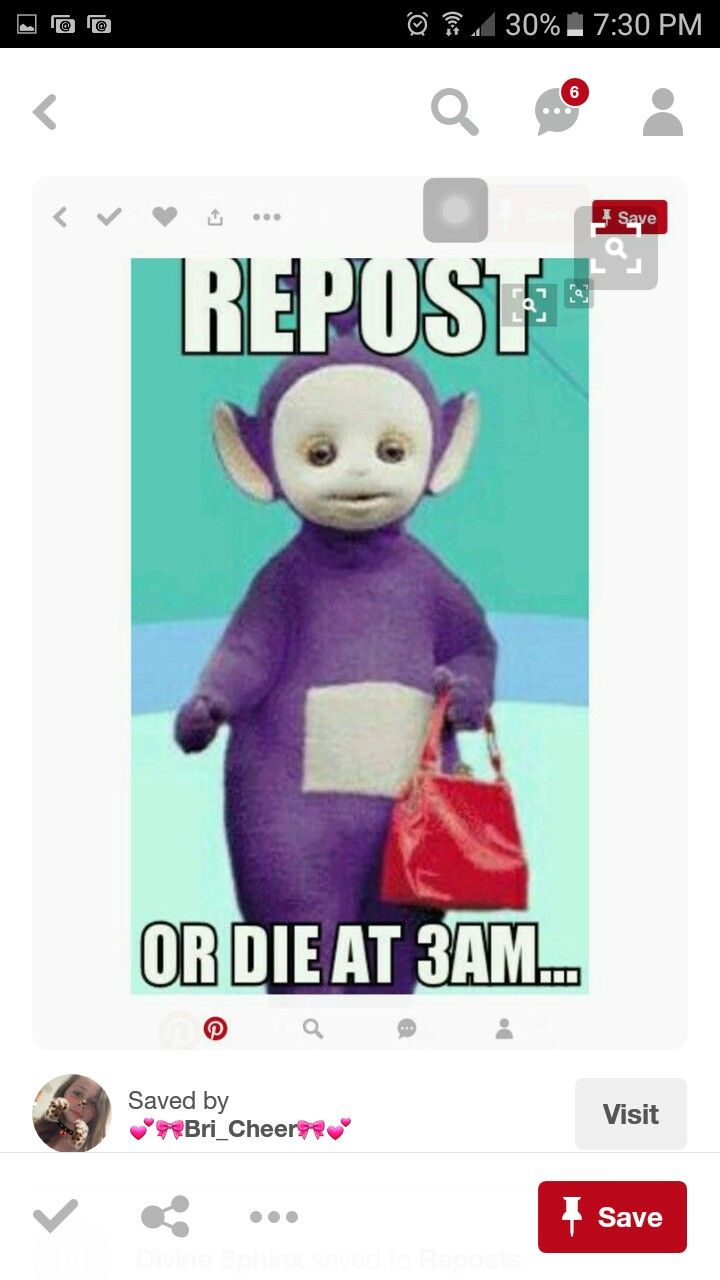 It usually don't repost chainmail because I don't believe in them, but teletubbies... Can't risk it XD