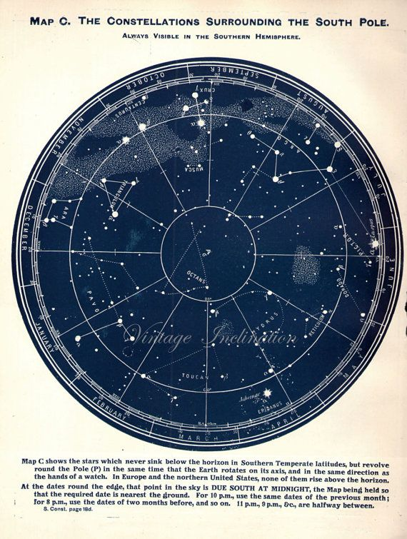 astronomy star charts constellations - 570×755