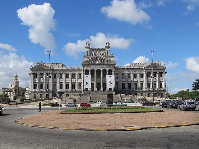 Palacio Legislativo in Montevideo; this very elaborate building houses Uruguay's legislature. It is richly decorated and the top even features a portico with Karyatids in place of a cupola.