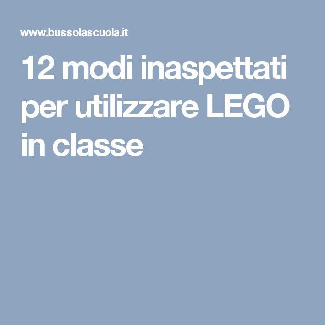 12 modi inaspettati per utilizzare LEGO in classe