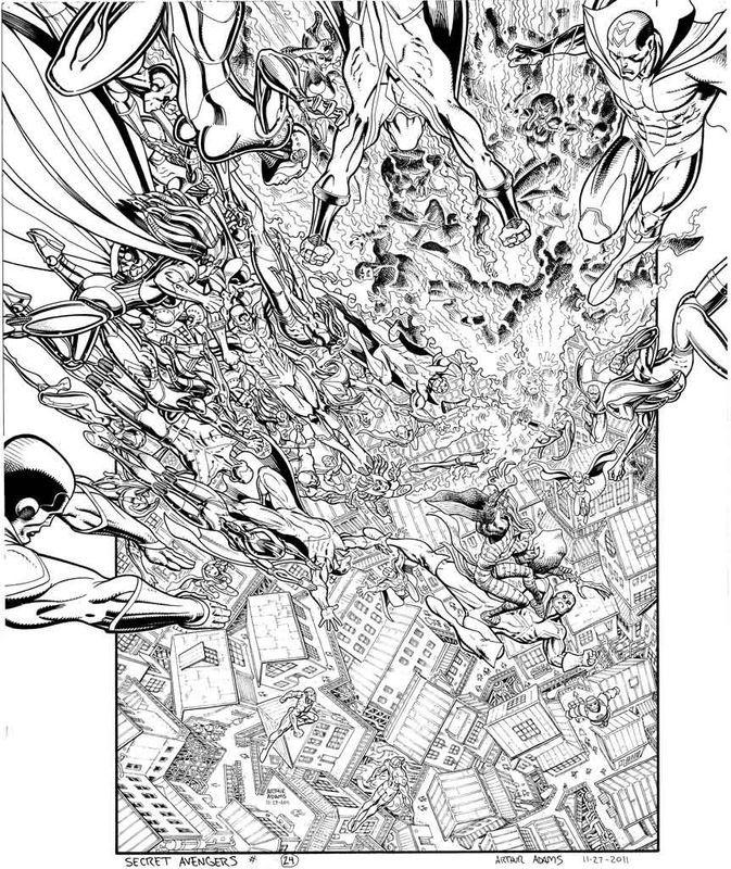 ARTHUR ADAMS SECRET AVENGERS COVER Comic Art
