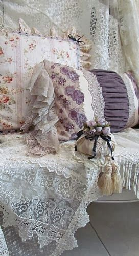 Cushions and lace