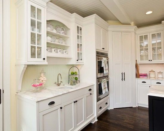 Favorite Corner Pantry Flanked By Double Oven Oven Microwave Flanked By Area For Beverages