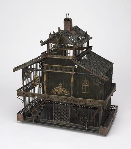 Antique bird cage