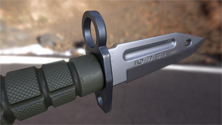 ArtStation - M9 Phrobis Knife, Ben Bolton