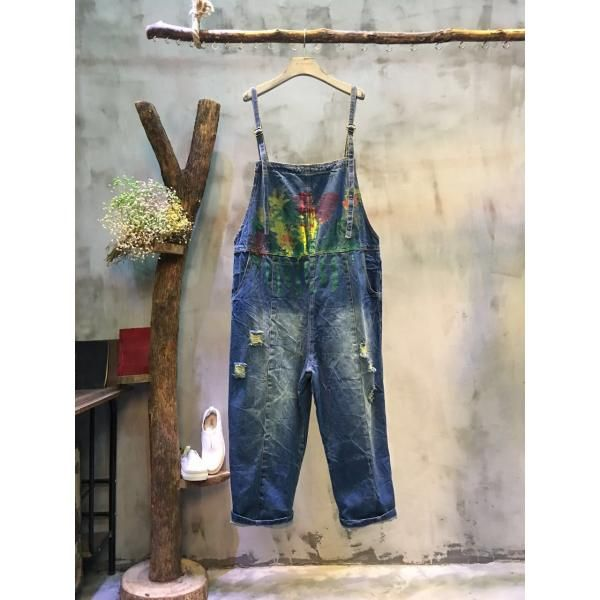 Best-selling Colorful Printing Plus Size Pants Wide-leg Cheap Overalls Online #overalls #wide-legs #pants #womanfashion #trousers #rompers #baggyjeans