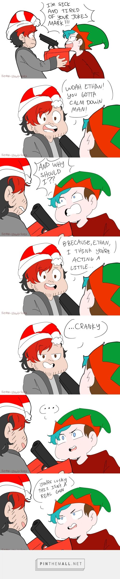 Markiplier and Ethan from CrankGameplays | Santa and elf | Puns | cranky bois