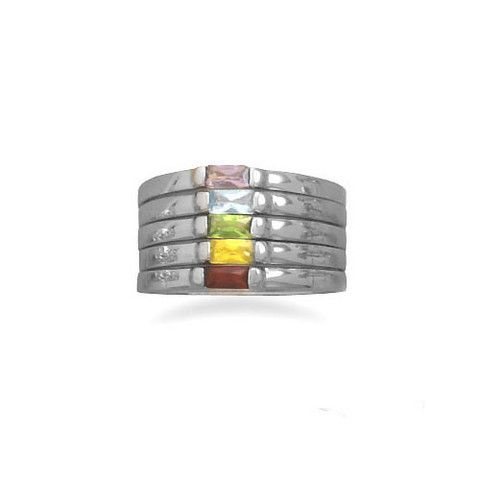Multiband Multicolorful Stacking Ring – Tribal Native LA http://www.tribalnative.com/products/multiband-multicolorful-stacking-ring