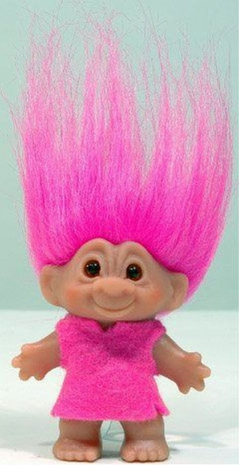 A pink haired troll!