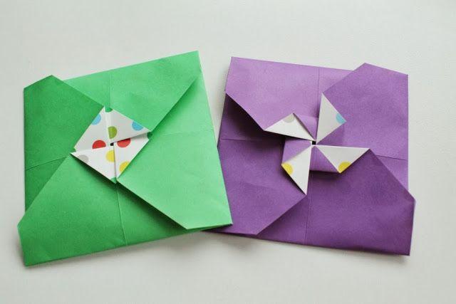 enveloppe-moulin à vent  Avec du papier  Pinterest  DIY and crafts