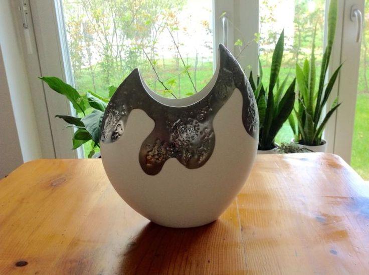 Vase silber weiß oval Flunder 28cm hoch Stil Formano in Stuttgart - Sillenbuch | eBay Kleinanzeigen