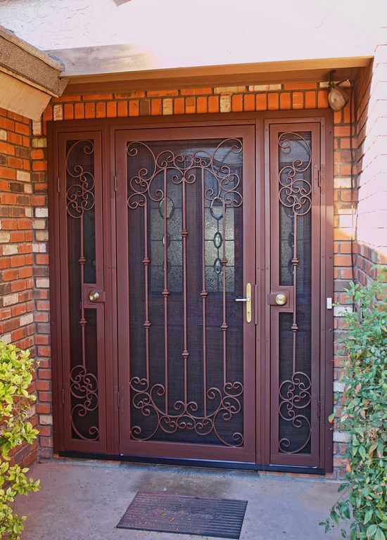 75 best wrought iron door gates images on pinterest for Door gate design