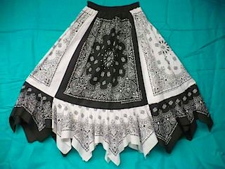 Bandana Prairie Skirt tutorial