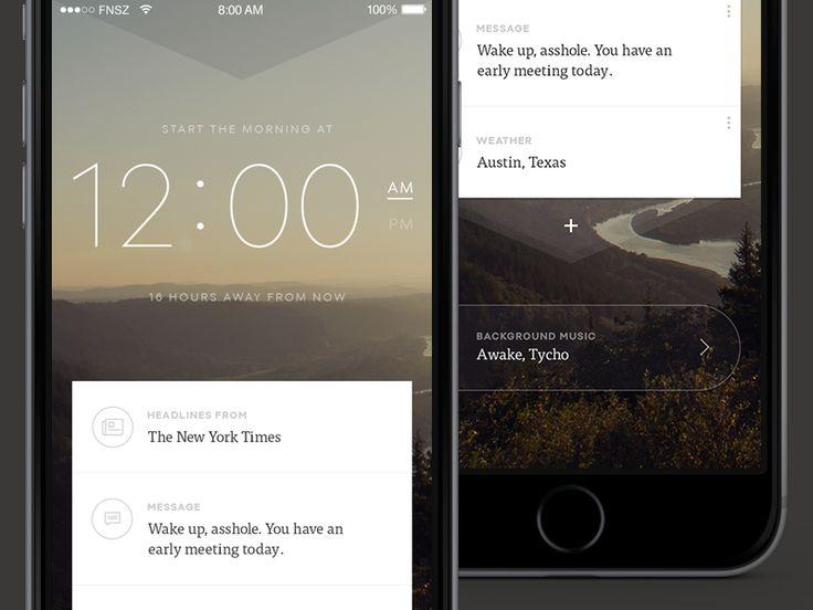 Mornings iPhone App by Natalie Thai