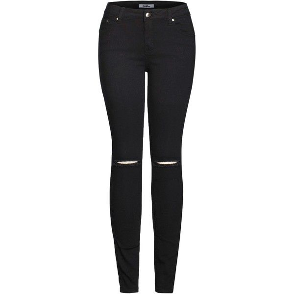 2LUV Women's Trendy Distressed 5 Pocket Denim Skinny Jeans ($12) ❤ liked on Polyvore featuring jeans, pants, destructed jeans, torn jeans, distressed jeans, destroyed denim jeans and ripped denim jeans