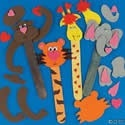 Valentine Zoo Animal Bookmarks Craft Kit. Valentine's Day craft ideas for kids.  http://www.apples4theteacher.com/holidays/valentines-day/kids-crafts/valentine-zoo-animal-bookmarks.html