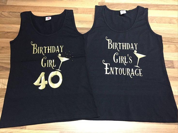 Birthday girl t-shirt, birthday entourage t-shirt, 40th birthday t-shirt , 50th birthday t-shirt , birthday gift, birthday tank top, 60th,30 by personaliseddiamante on Etsy https://www.etsy.com/uk/listing/522240237/birthday-girl-t-shirt-birthday-entourage