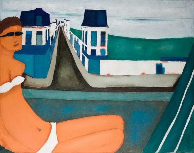 Jerzy Nowosielski | Kobieta i miasto, 1970/71, oil on canvas