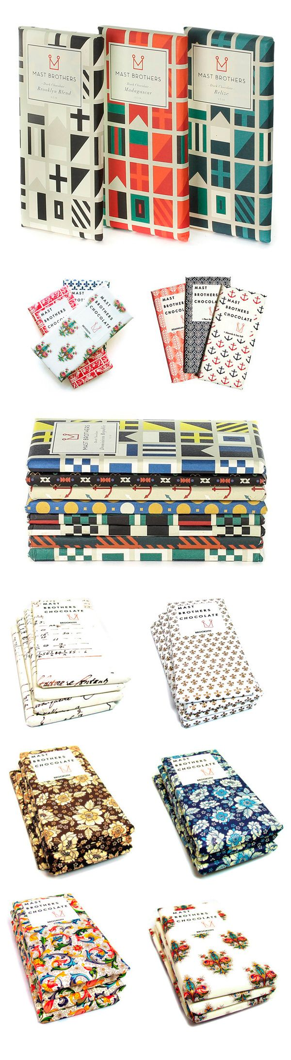Mast Brothers Chocolate collectible patterned wrappers