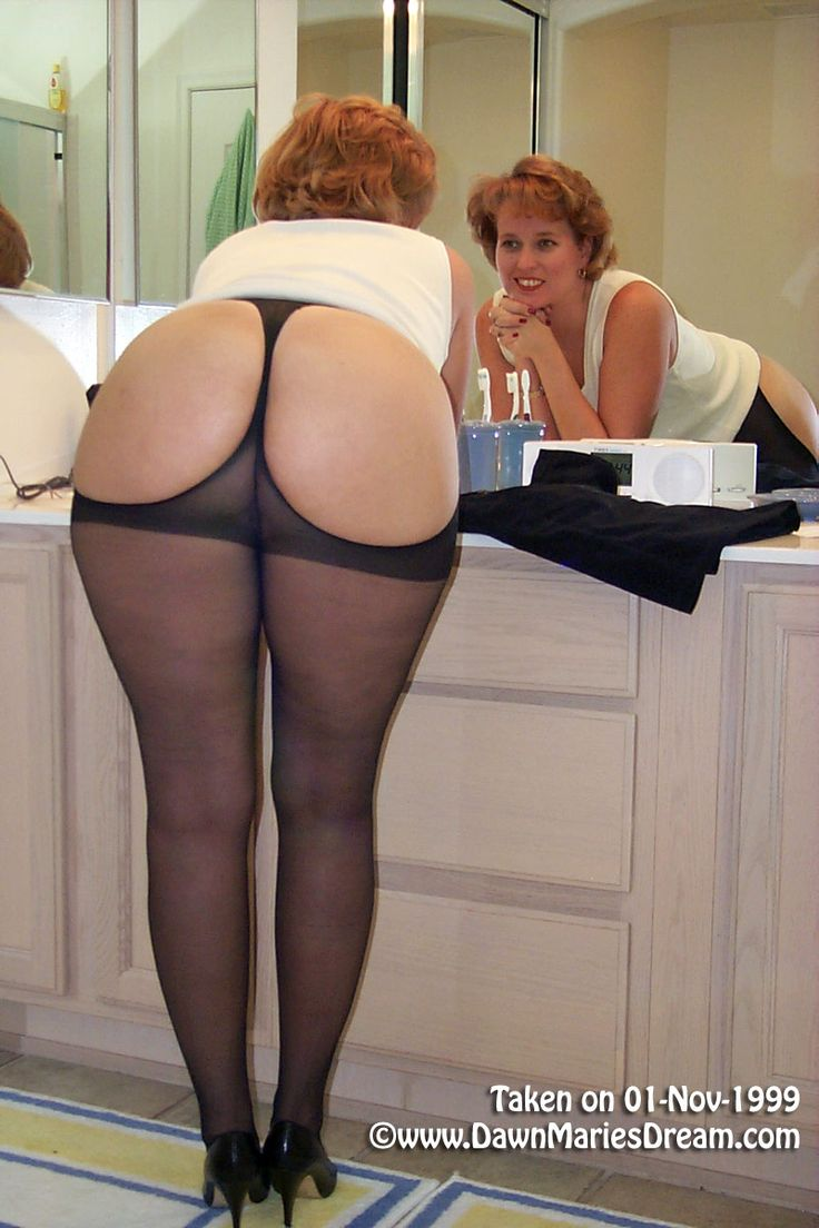 Ass Pantyhose Clad Mature 34