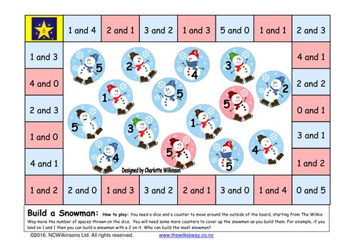 Build a snowman: Addition Game