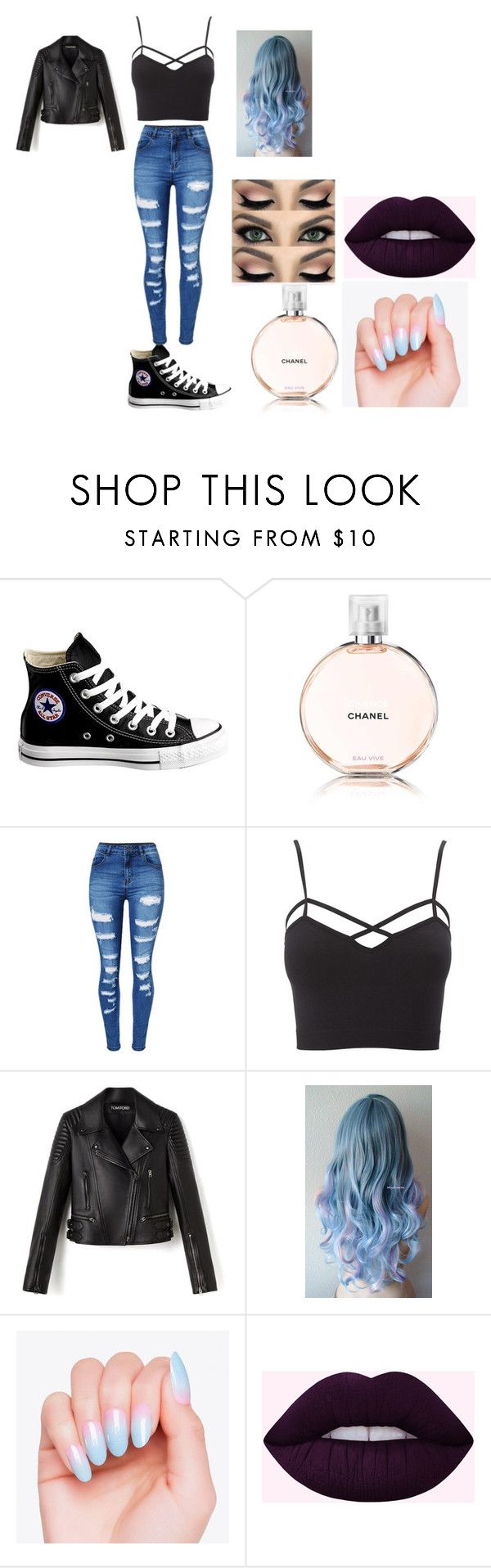 """""""Sin título #5"""" by taniahernandez-2 on Polyvore featuring moda, Converse, Chanel, WithChic, Charlotte Russe y plus size clothing"""