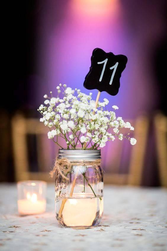 centro de mesa económico para boda