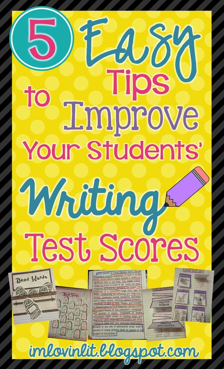 Link to blog post containing practical and easy to implement suggestions for improving your students' test scores in writing. Crunched for time with the state writing test coming up? Here are some easy ways to boost your writing scores.